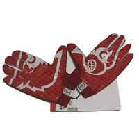 ADIDAS Louisville Cardinals ADIZERO 5 STAR 4.0 FOOTBALL GLOVES XXXL 3XL Red NEW