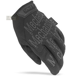 MECHANIX THE ORIGINAL COVERT GLOVES BLACK Military Army Police Security Work EDC