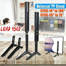 Universal Table Top TV Stand Base Mount Pedestal For 14-100'' / 26-75'' Flat TV