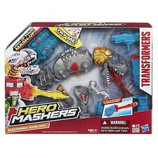 Transformers Hero Mashers ~ ELECTRONIC GRIMLOCK ACTION FIGURE ~ Hasbro