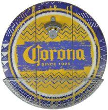 "Corona Large Wooden Sign/ Bottle Opener + Cap Catcher 14"" (st)"