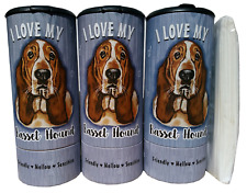 I Love my Basset Hound(85001) Refillable Tissue Tube with 1 Refill package