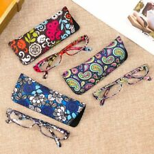 Women Reading Glasses Square Flower Frame Eyewear Glasses Farsighted With Case
