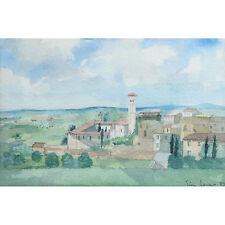 Modern Landscape Townscape Watercolour Painting Tim Jones Mallorca Majorca Spain