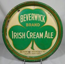 Old Beverwyck Irish Cream Ale Beer Tin Serving Tray Breweries Inc. Albany Ny