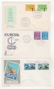 1962 - 1966 EUROPA CEPT - 3 x First Day Covers ICELAND ITALY SPAIN Job Lot