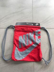 Nike Heritage Gymsack Shoe Bag BNWT Rare Red/Grey Drawstring