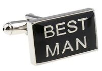 Best Man Cufflinks Rectangle Groom Wedding Fancy Gift Box Free Ship USA