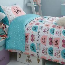 Linge de lit et ensembles bleus en polyester avec des motifs Á pois