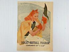 1949 High School Football Program w/ Rare Dr. Pepper Advertisement San Antonio