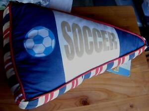 Disney Dreams Sports Soccor/Basketball Pennant Shaped Flag Pillow - BRAND NEW