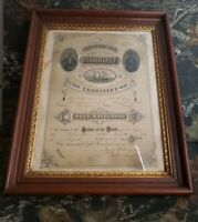 Antique Framed Tin Type Photo Marriage License Certificate 1879 Williamston...