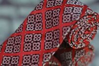 Lord R Colton Masterworks Tie Red Black Gray Geometric Woven Luxury Silk Necktie