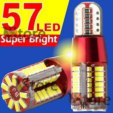 Pack 2 Unità 57 LED SMD 4014 T10 Lampade BIANCO Canbus Posizione Targa Auto 5W