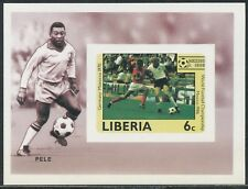 LIBERIA 1985 FIFA World Cup 1986 Mexico 6 U/M IMPERFORATED MS MichelCat. UNKNOWN