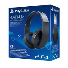 PS4 Oficial SONY PlayStation Platino 7.1 Wireless Stereo Headset-a Estrenar!