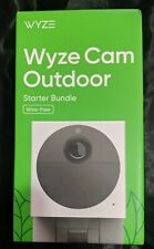 WYZE CAM OUTDOOR Wire-Free Starter Bundle, Security Camera **New**