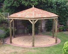 3.0M Hexagonal Wooden Gazebo / HotTub Shelter with Cedar Roof - Hand-Built