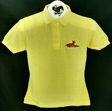Reed Hill Polo Shirt Yellow Juniors Small Fox Design