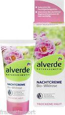 CREME DE NUIT A LA ROSE SAUVAGE Bio NATUREL & VEGAN 50 ml Peau Sèche - ALVERDE