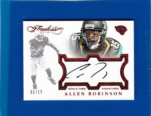 2016 Panini Flawless Now and Then Signatures /15 Allen Robinson #NTAR Auto