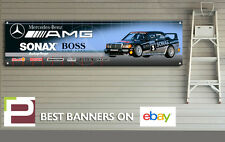 Mercedes 190e Cosworth Touring Car Banner for Workshop, Garage, 2000mm x 500mm