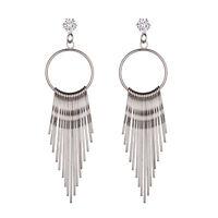 1Pair Vintage Rhinestone Crystal Long Tassel Ear Stud Dangle Earrings Charm Gift