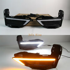 LED Daytime Running Lights DRL Yellow Turn Signal for Nissan X-trail Rogue 2017+
