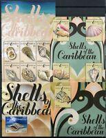 ANTIGUA 2011 Muscheln Shells 4912-4921 + Block 683-684 ** MNH