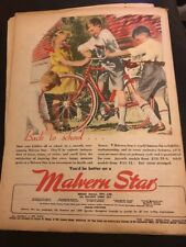 Original Malvern Star bicycles 1940s Vintage Print Advertising Australiana Vii