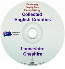 Genealogy England Lancashire Cheshire books DVD