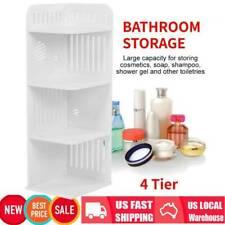 4 Tier Corner Cabinet Shower Caddy Bathroom Storage Rack Shelf Organiser Wooden