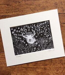 Sheep Art. Print of original illustration by Kay Fox