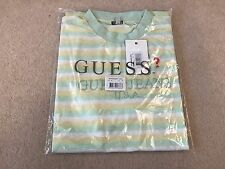 GUESS X ASAP ROCKY COTTON CLUB T-SHIRT - YELLOW GREEN - SMALL (TEE A$AP)