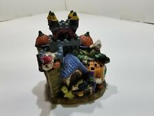 Ceramic Halloween Village House Highly Decorated Lots of Details