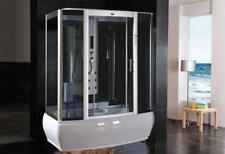 cabina box doccia Idromassaggio 170x90 con Vasca Sauna luci led full optional  3