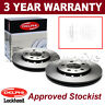 2x Rear Delphi Lockheed Brake Discs For Vauxhall Opel Insignia Saab 9-5 BG4188