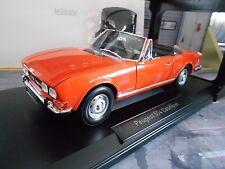 PEUGEOT 504 Cabrio orange 1970 MKI Cabriolet 184826 Norev 1:18