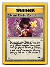 Sabrina's Psychic Control 121/132 Gym Challenge Pokemon Card LP Cond #