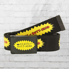 Beavis And Butthead stoffa cintura logo WEBBING BELT NERO CINTURA BLACK MTV