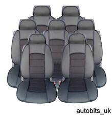 FULL SET 7X BLACK PREMIUM COMFORT PADDED SEAT COVERS 7 SEATER VW SHARAN TOURAN