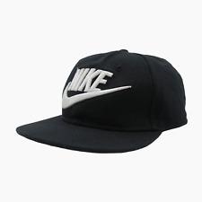 Nike Futura Swoosh Logo Spell Out True Snapback Cap Hat Black Adults S/M 5837