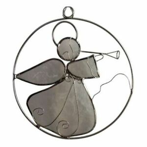Angel Sun Catcher Natural White Exquisite Metal Hanging Ornament