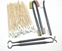 """105pc 7"""" Gun Rifle Pistol Cleaning Brushes Double Ended Picks Cottons Swabs"""