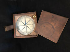 Compass Surveyors 18th Th Instrument Gauges Scientific Wood Antique French