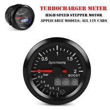12V 52MM LED Car Turbo Boost Gauge Bar LCD Digital Pointer Vacuum Pressure Meter