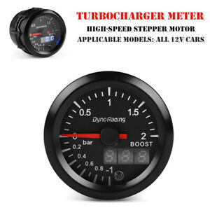 12V 52MM LED Car Turbo Boost Gauge Bar LCD Digital Pointer Vacuum Pressure Meter