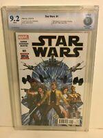 Star Wars #1 vol 3 2015 CBCS 9.2 1st Printing Jason Aaron