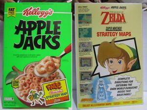 Nintendo Cereal Box Legend Of Zelda Link Strategy Map 1994 Kelloggs