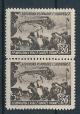 [37856] Albania 1948 Trains Good pair Very Fine MNH stamps